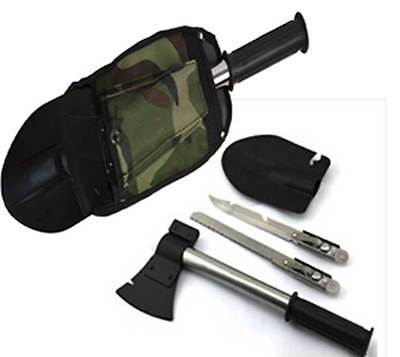 Multi Survival Emergency Camping Hiking Shovel Axe Saw Gear Kit Tools