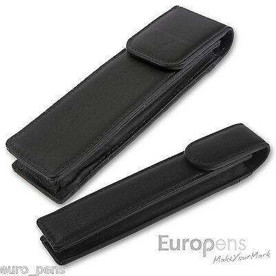 Parker Leather Black Pen Pouch Holds 2 Pens New In Box  S0888240