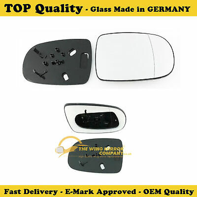 VAUXHALL CORSA 2001>06 DRIVER SIDE Wing Mirror Glass Silver Aspheric &Base Plate