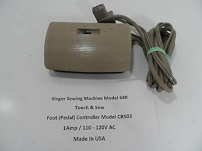 Singer Sewing Machine Model 640 Touch & Sew Foot Pedal Controller CR503 - GC