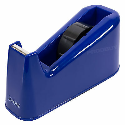 Rapesco Blue 25mm Tape Dispenser Heavy Duty Cellotape Sellotape Home Desktop