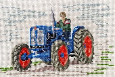 "Tractor 2 Green Complete Counted Cross Stitch Kit 4/""x3/"""