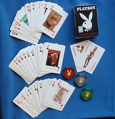 ORIGINAL PLAYBOY PLAYING CARDS Made by Bicycle + CASINO POKER CHIPS