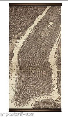 Authentic Models MC806 Wall Map of 1879 New York Giclée Map