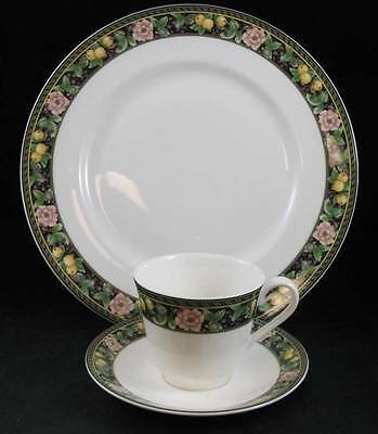 Royal Doulton CHELSEA GARDEN Dinner Plate+Cup & Saucer TC1179 SHOWROOM INVENTORY