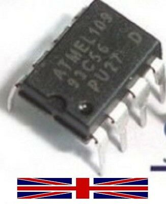 AT93C56 ATMEL 93C56 EEPROM DIP-8 Integrated Circuit from UK Seller