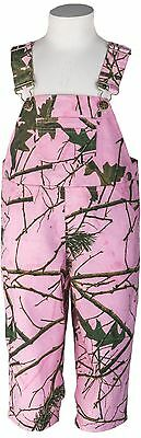Infant - Toddler Baby Girl Pink Camo Cotton Ranger Bib Overall - Camouflage