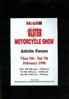 1998 Ulster Motorcycle Show Programme