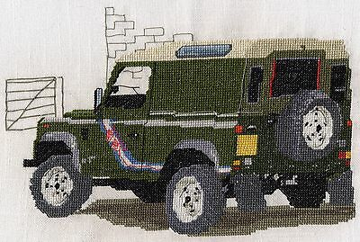 Landrover Defender counted cross stitch kit or chart 14s aida