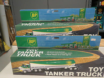 BP 1991 GAS TANKER TRUCK #1 Small and Large Logo Set of two
