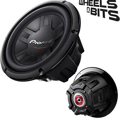 """Pioneer Ts-W261D4 10"""" Inch 25Cm 1200 Watts Max Sub Subwoofer 350 Rms Dual 2Ohms"""