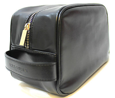 1 DAY AUCTION! Dolce Gabbana D&G Mens Synthetic Leather Toiletry Wash Bag Black