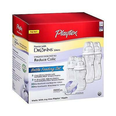Playtex Baby Drop-Ins Nursers with Liners Bottle Feeding Gift Set, Reduces Colic