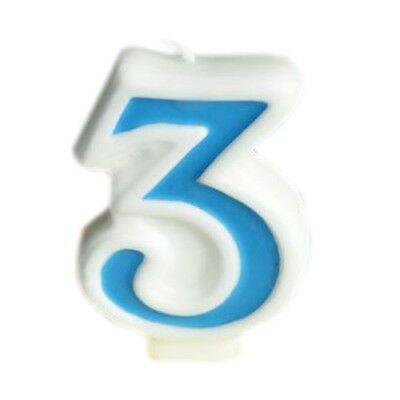 """Blue Numeral 8 Number Candle Birthday Candle Anniversary Cake 2/"""" Digit"""