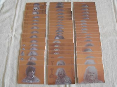 topps lord of the rings masterpieces 1 and 2 bronze foil parallel lot of 55