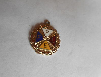 Great Vintage FPLE Knights of Pythias Pythian Sisters Small Enameled Charm
