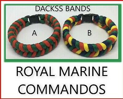 British Royal Marine Commando Paracord Wristband Un-Official Help For Hero's