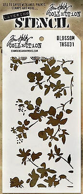 NEW! Blossom Design Layering Stencil - Stampers Anonymous Tim Holtz Collection