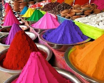 Holi Color Powder Festivals Celebrations Parties 6 Colors Available
