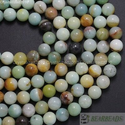 Natural Colorful Amazonite Gemstone Round Beads 4mm 6mm 8mm 10mm 12mm 14mm 16""