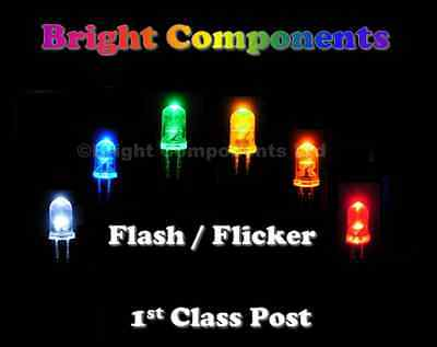 Flashing / Flickering (Candle) LEDs - Red,Blue,White,Green,Yellow,Orange