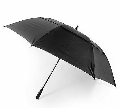 OCTAVE® Unisex Wind Resistant Double Canopy Black Golf / Walking Umbrella