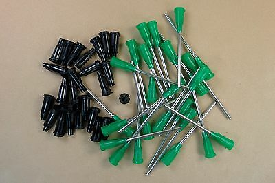50 Pc 14 Gauge Blunt Dispensing Needles (25) & Caps (25) E-Cig Glue E6000 1.5""