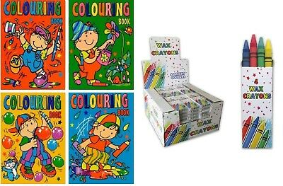 100 Colouring Books And 100 Crayons Party Bag Fillers Job Lot Wholesale Schools