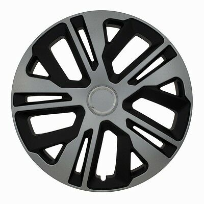 """Set Of 4 15"""" Wheel Trims To Fit Vw Golf 4  Golf 5, Golf 6, Polo + Free Gift #l"""