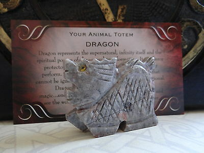 *DRAGON* Carved Stone Figurine Totem Wiccan Pagan Familiar Metaphysical