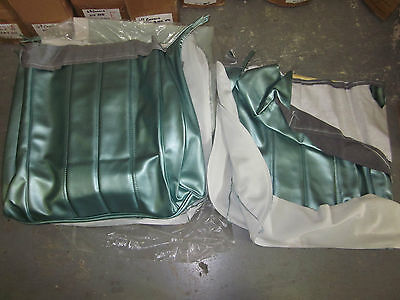 66 Chevelle Aqua Seat Covers Full Set with Bench Front Seat