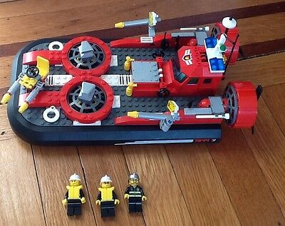 "LEGO CITY ""FIRE HOVERCRAFT"" MODEL 7944 All Minifigures Complete"