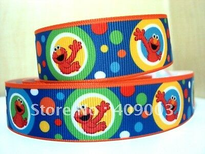 "Gift Wrap Playful Elmo Ribbon 1/"" Wide For Cakes Crafts Etc 2m"