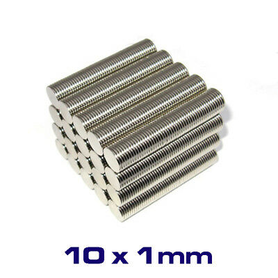 50 X Strong Round Disc Magnet 8mm x 1mm Rare Earth Neodymium No. 1706
