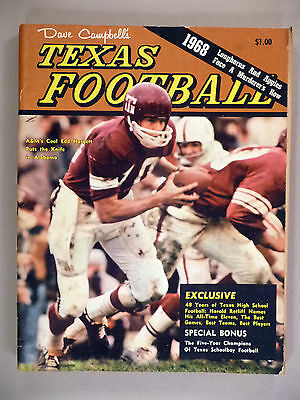 Dave Campbell's Texas Football - 1968 ~~ large annual edition