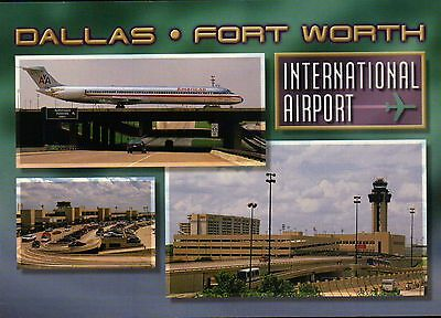 Dallas Fort Worth International Airport Texas, Am. Airlines, Airplane - Postcard