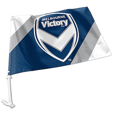 Melbourne Victory A-League Team Logo Car Flag * Easy to Attach!