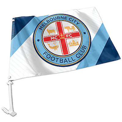 Melbourne City A-League Team Logo Car Flag * Easy to Attach!