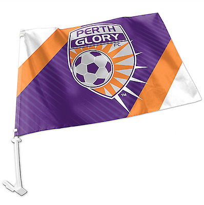 Perth Glory A-League Team Logo Car Flag * Easy to Attach!