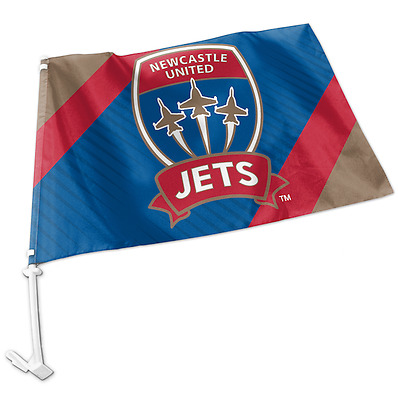 Newcastle Jets A-League Team Logo Car Flag * Easy to Attach!