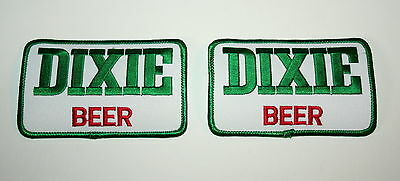 Set of 2 Vintage Dixie Beer Brewing Distributor Cloth Patch 1980s NOS New