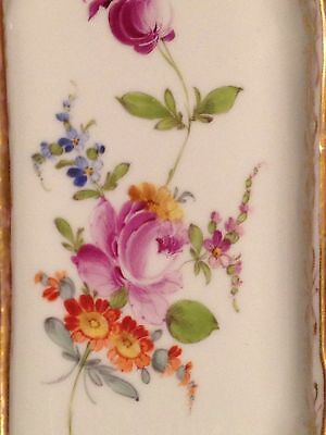 Dresden Richard Klemm Bailey Banks Biddle Hand Painted Floral Pen Tray