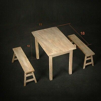HOT FIGURE TOY 1/6 scenario Solid wood Tables and chairs suit