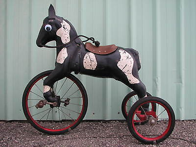 Horse Tricycle Pedal Car Tractor American National Gendron Steel Craft Eska