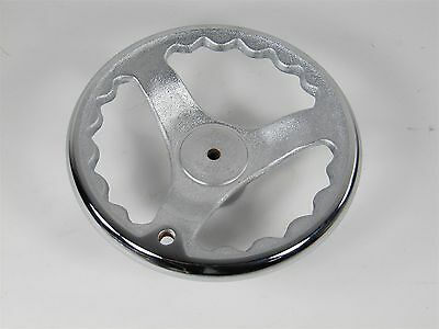 "New 5.5"" O.D. Solid Cast Iron Hand Wheel with Chrome Rim. Made in Taiwan HO-5.5"