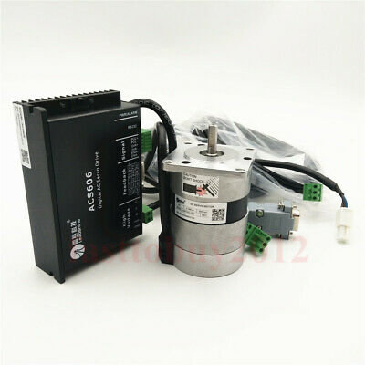 50W 3A 24VDC 0.16NM 3000RPM Brushless DC Servo Motor Dirve ACS306 Kit +2 Cables