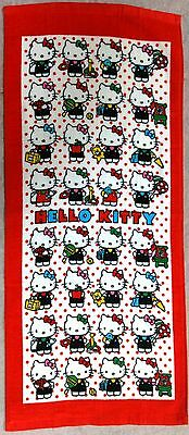 Rare Sanrio Hello Kitty Cute Red Face Hand Cotton Towel Japan Only Limited New