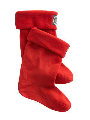 Joules Jnr Fleece Welly Sock - Red - SALE 15% OFF
