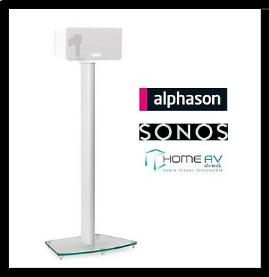 Alphason AS3003W Play 3 Glass Floor Stand / Mount for Sonos PLAY:3 Single White