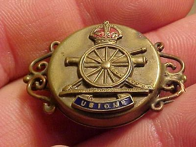 Original Wwi British Artillery Sweetheart Pin With Photo